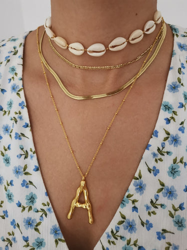 Big Gold Letter Necklace