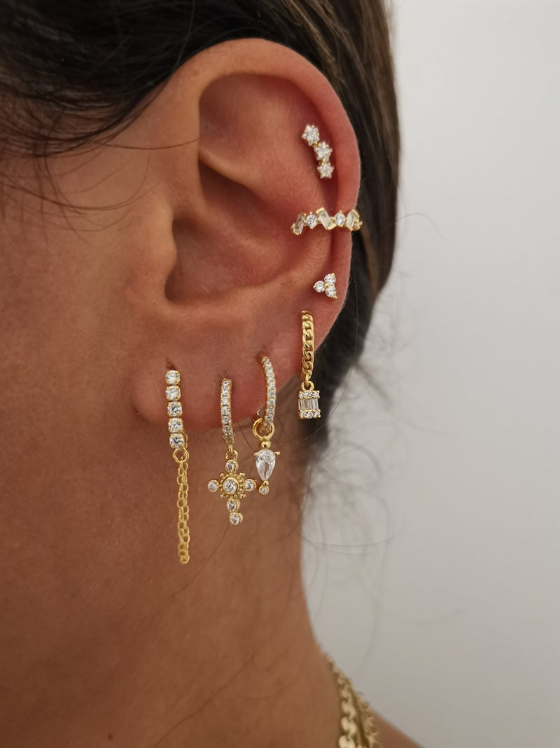 Earcuff Diamond Gold