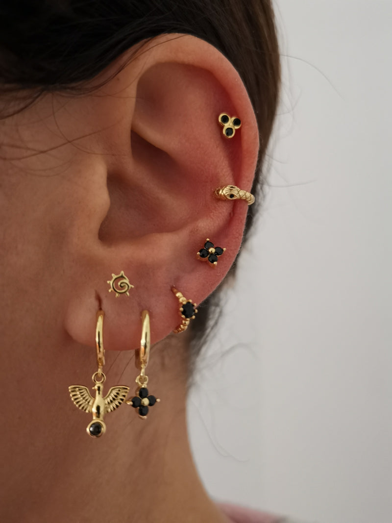 Pendientes Love Black Gold