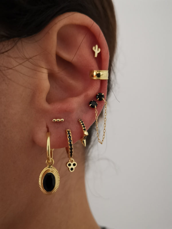 Pendientes Black Rock Gold