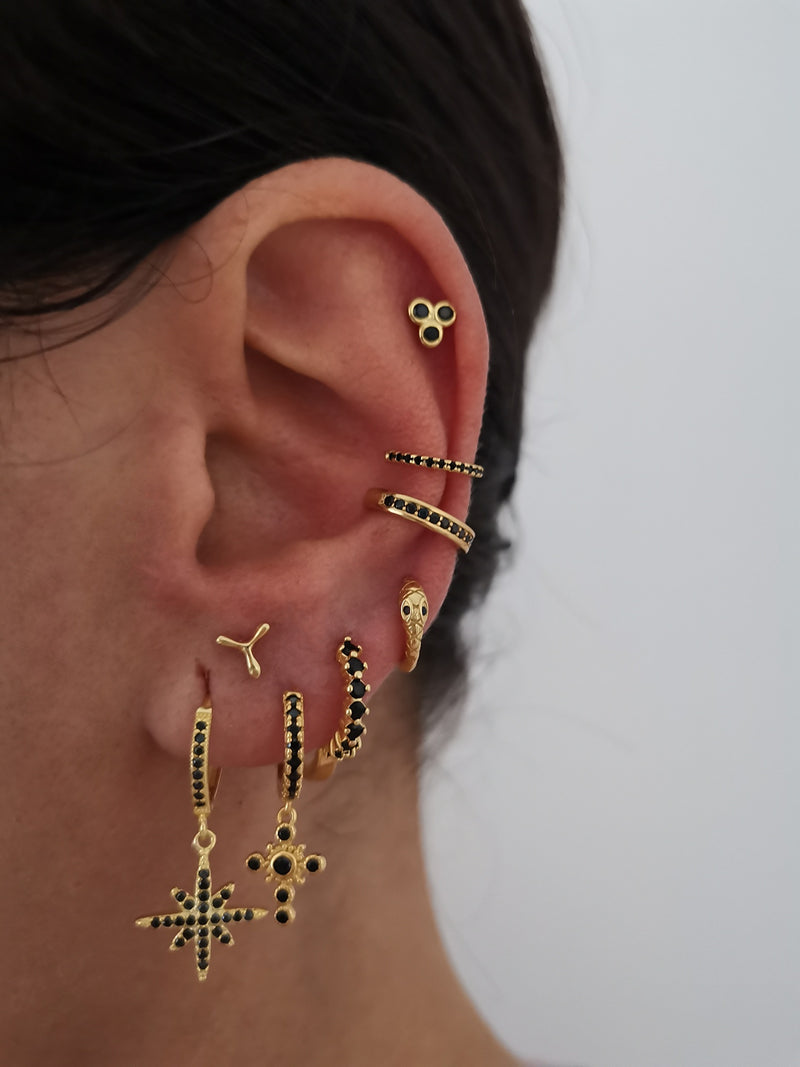 Earcuff Loise Black Gold