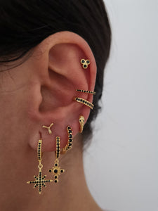 Pendientes Eliat Black Gold