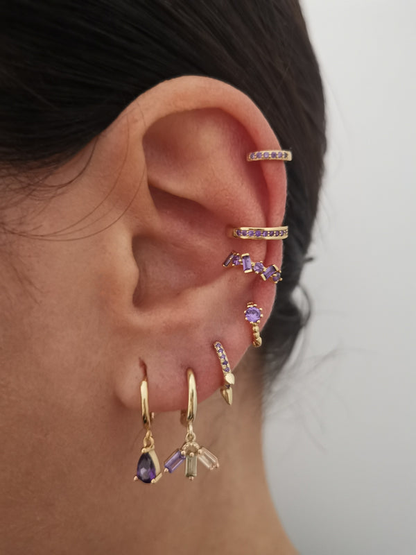 Earcuff Violet Diamond Gold