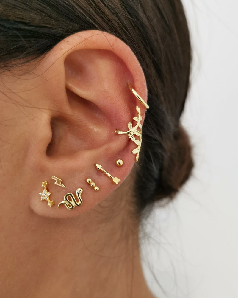 Pendientes Snake Luxe Gold