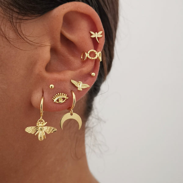 Pendientes Eye Mini Gold