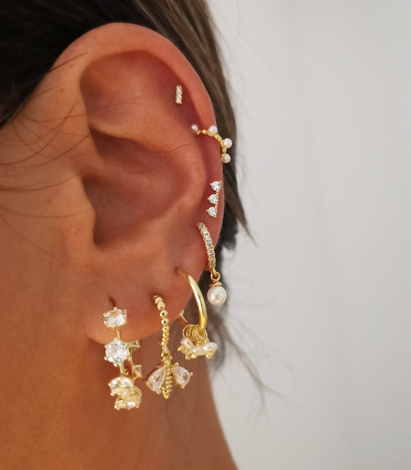 Earcuff Mini Perla Gold