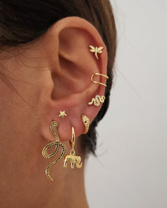Earrings Elephant Gold