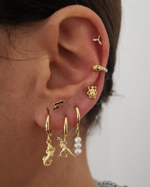 Earcuff Mini Snake Gold