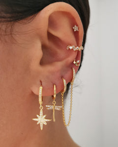 Pendientes Shine Dragon-fly Gold
