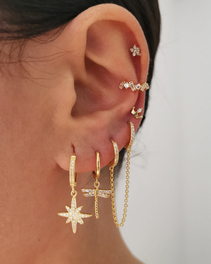 Pendientes Shine Queen Gold
