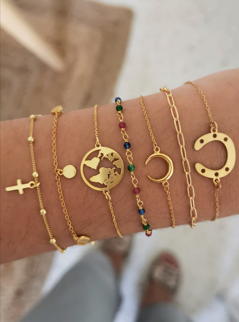 Pulsera Cross Ball Gold