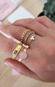 Anillo Julie Blue Gold
