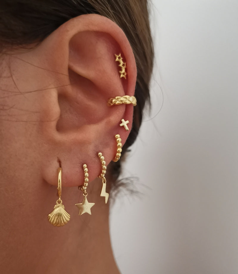 Pendientes Shell Gold