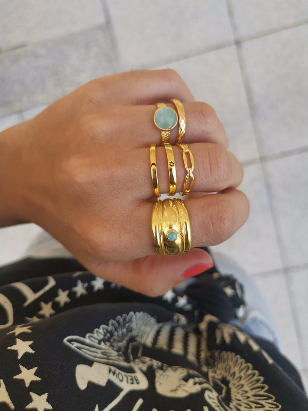 Anillo Dafne Chain Gold