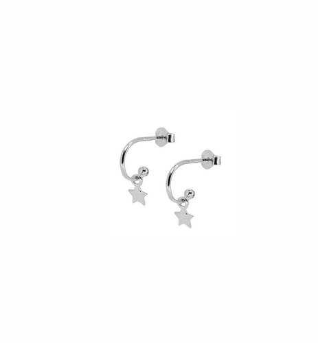 Sally Star Silver Earrings