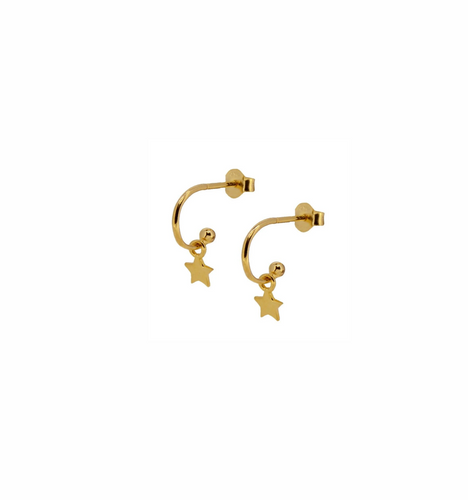 Sally Star Gold Earrings