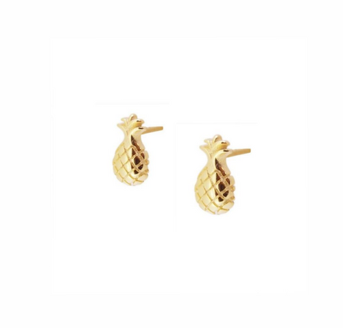 Pineapple Gold Earrings