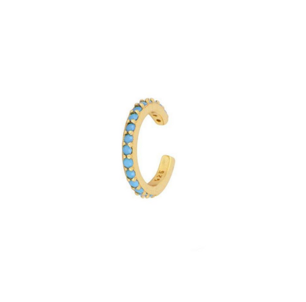 Earcuff Multi Blue Gold