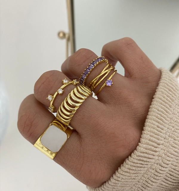 Anillo Luxe Violet Gold