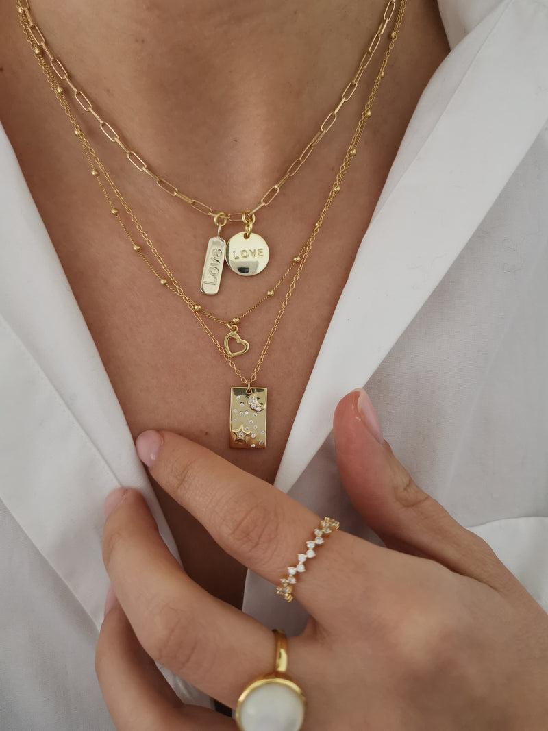Collar Nima Love Gold