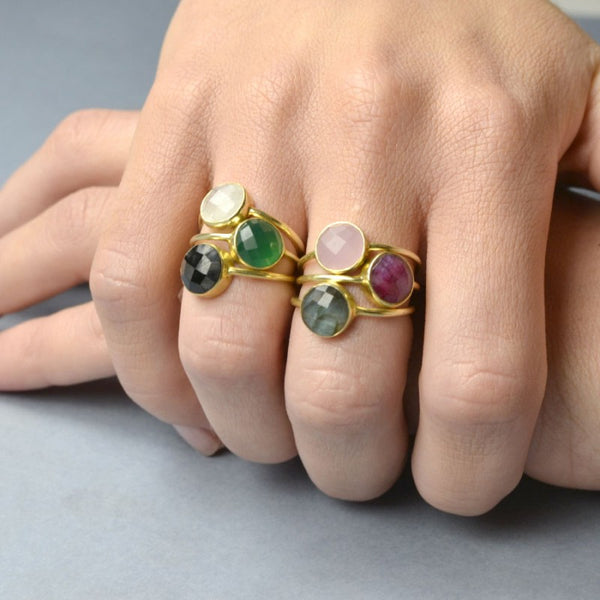 Anillo Stone Pink Gold