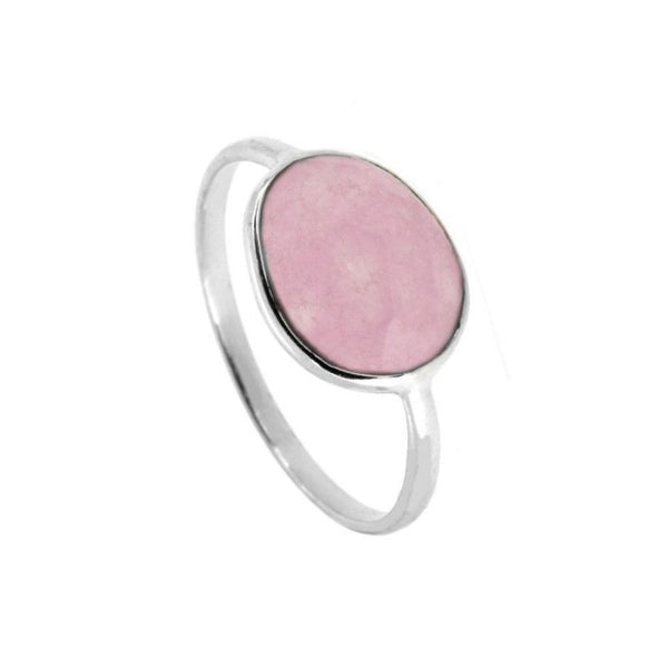Anillo Moon Stone Pink Silver