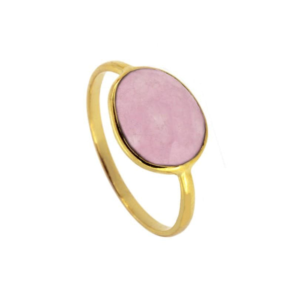 Anillo Moon Stone Pink Gold