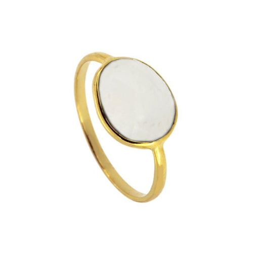 Moon Stone Gold Ring