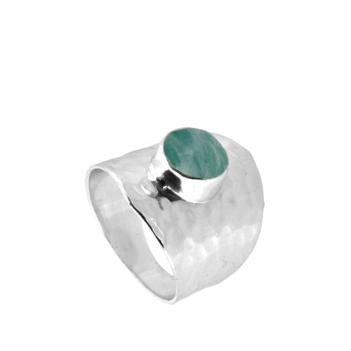 Oslo Amazonite Silver Ring
