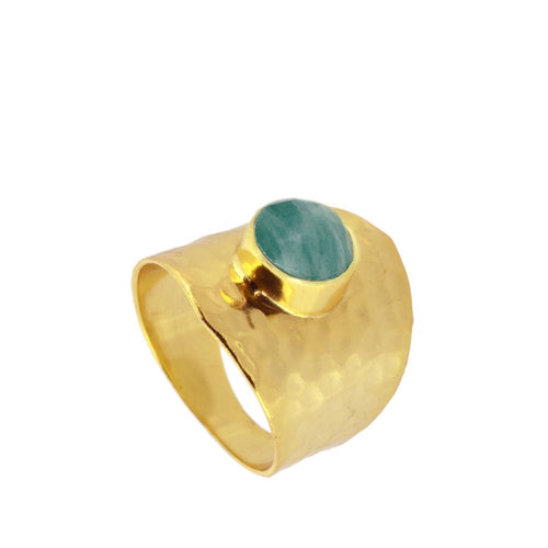 Oslo Amazonite Gold Ring