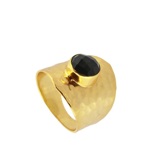 Oslo Black Gold Ring