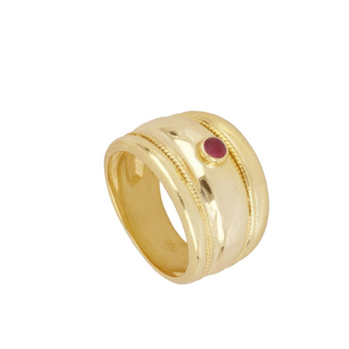 Fuchsia Gold Elite Ring
