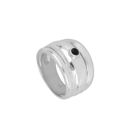 Elite Black Silver Ring