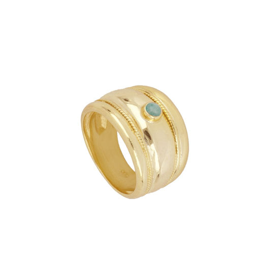 Elite Turquoise Gold Ring