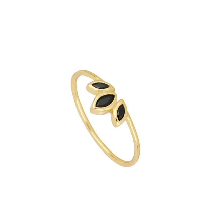 Casilda Black Gold Ring