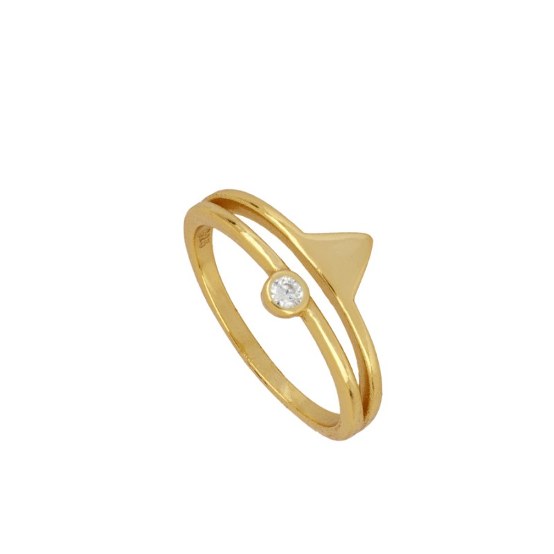 Anillo Triangle Gold