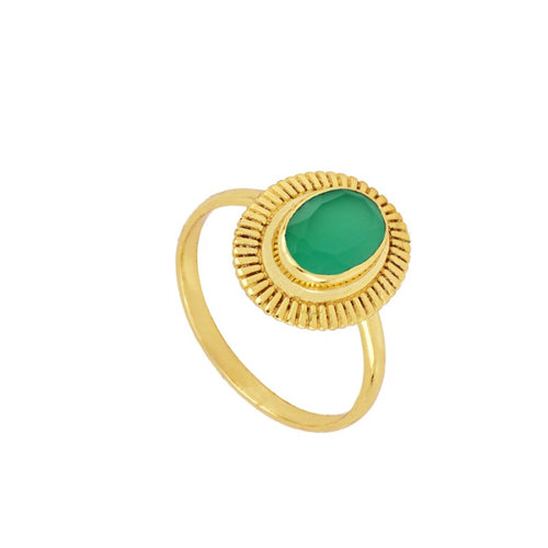 Gold Green Bari Ring