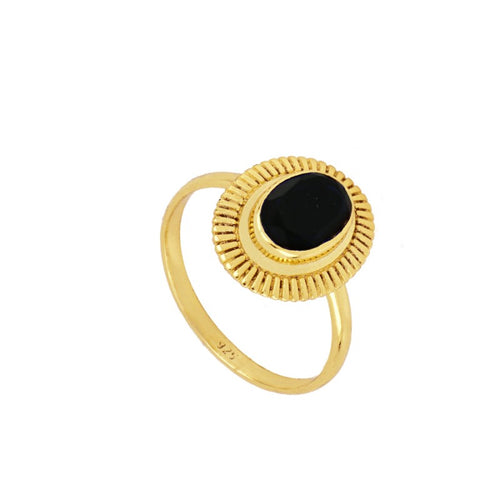Bari Black Gold Ring