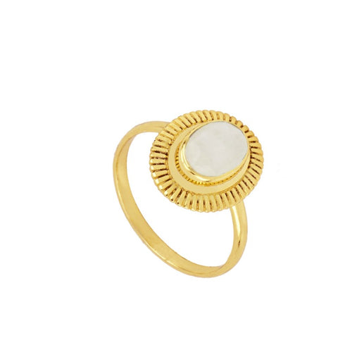 Bari White Gold Ring