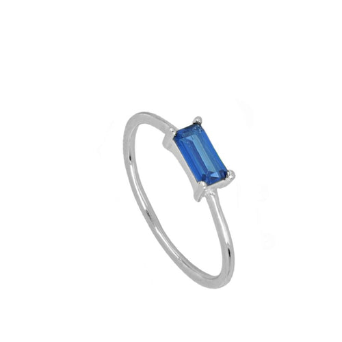 Úrsula Blue Silver ring