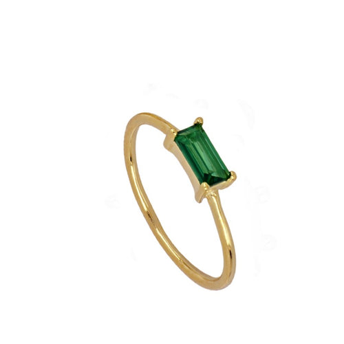 Ursula Green Gold Ring