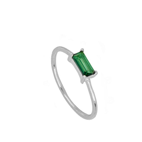 Úrsula Green Silver ring