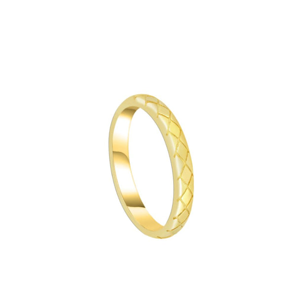 Anillo Basic Snake Gold