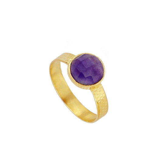 Julie Violet Gold Ring