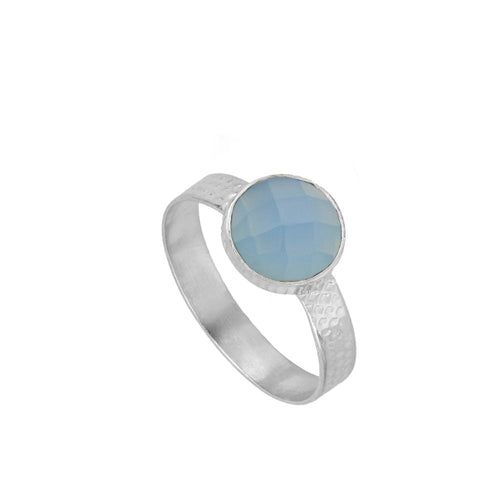 Julie Blue Silver Ring