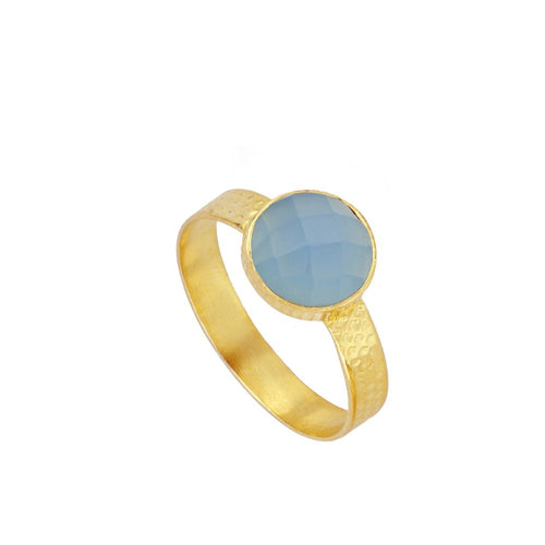 Julie Blue Gold Ring