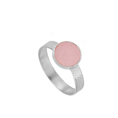 Julie Pink Silver Ring