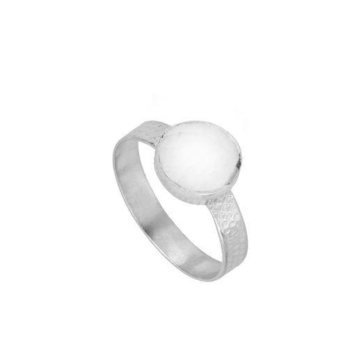 Julie White Silver Ring