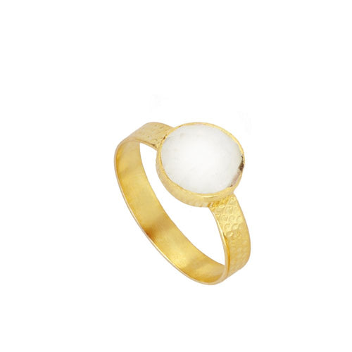 Julie White Gold Ring