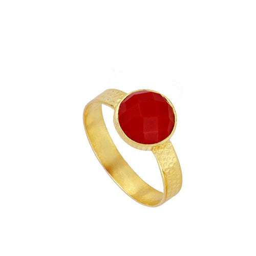 Julie Red Gold Ring